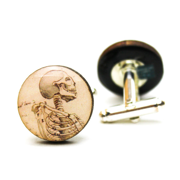 Human Skeleton Profile Cufflinks