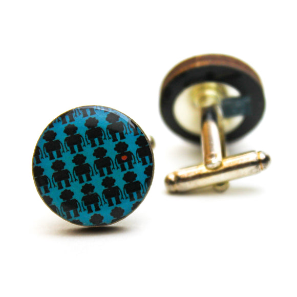 Robot Mini Heart  Cufflinks