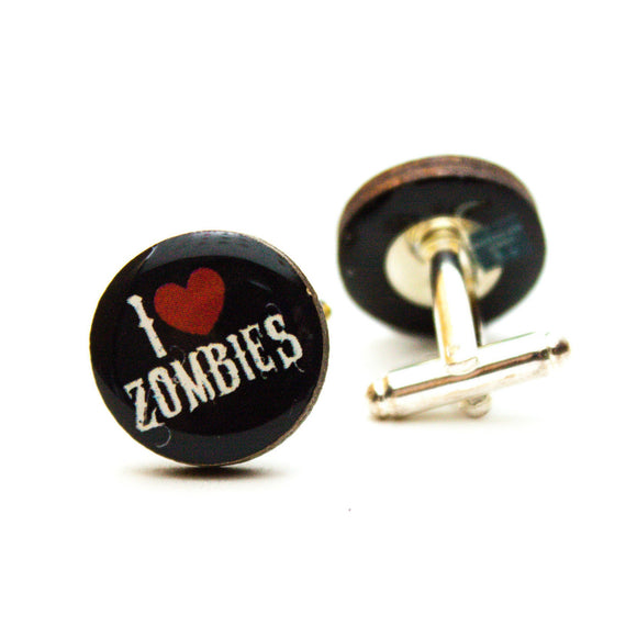 I Love Zombies Cufflinks
