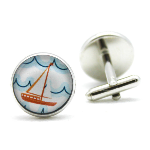 Sailboat Nautical Cufflinks