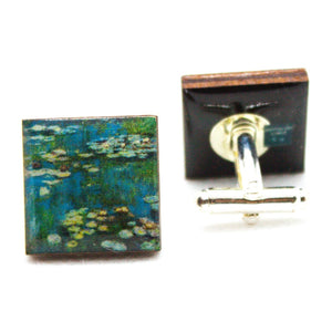 Nympheas Water-Lilies Claude Monet Art Cufflinks