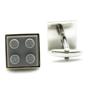 Made from Lego (r) 2x2 Light Grey Gray Cufflinks