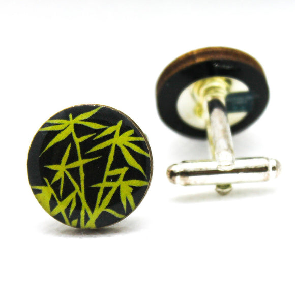 Plants Lucky Bamboo Cufflinks