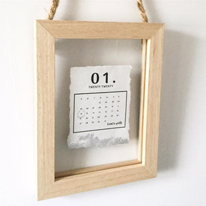 Special Day Calendar Floating Wooden Frame Personalised Word Art (Silver) www.withcerys.co.uk Unique Wall Art Gifts