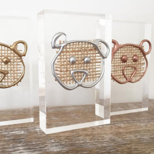 Metallic 'Baby Bear' Small Acrylic Keepsake (Gold, Rose Gold, Silver) www.withcerys.co.uk Personalised Wall Art Gifts
