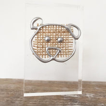 Load image into Gallery viewer, 'Papa Bear' Small Acrylic Keepsake (Silver) www.withcerys.co.uk Unique 3D Gifts Of Art