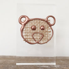 Load image into Gallery viewer, Metallic 'Baby Bear' Small Acrylic Keepsake (Rose Gold) www.withcerys.co.uk Personalised Wall Art Gifts