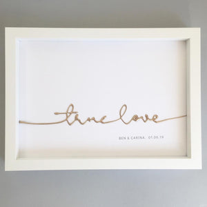 true love wedding anniversary framed art