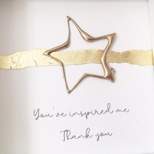 'You've inspired me. Thank you' Superstar, 3D Box Frame Personalised Art (Gold) www.withcerys.co.uk Unique 3D Wall Art Gifts