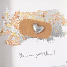 Load image into Gallery viewer, 'You've got this' Positive Plaster, 3D Box Frame Personalised Art (Silver)