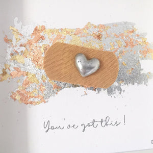 'You've got this' Positive Plaster, 3D Box Frame Personalised Art (Silver)