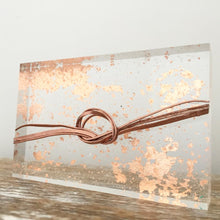 Load image into Gallery viewer, 'True loves knot' Small Acrylic Keepsake (Rose Gold) www.withcerys.co.uk