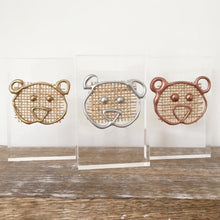 Load image into Gallery viewer, Metallic '3 Little Bears' Small Acrylic Keepsake (Gold, Rose Gold, Silver) www.withcerys.co.uk Personalised Wall Art Gifts