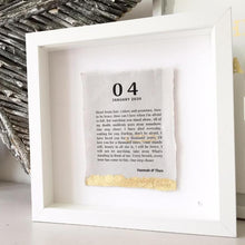 Load image into Gallery viewer, Song Lyric Box Frame Personalised Word Art (Gold) www.withcerys.co.uk Unique Wall Art Gifts