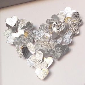 'Mum you're one in a million' Tiny Hearts, Personalised Box Frame (Silver Leaf & Swarovski Crystals) www.withcerys.co.uk Unique 3D Gifts Of Art