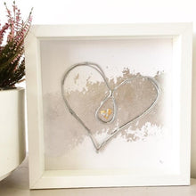 Load image into Gallery viewer, 'Unbreakable Bond' Heart, Box Frame Personalised Art (Silver) www.withcerys.co.uk Unique 3D Wall Art Gifts