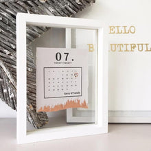 Load image into Gallery viewer, Marriage Date Calendar Floating Frame Personalised Word Art (Rose Gold)