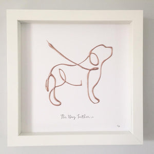 'The Dog Father' Dog Portrait, 3D Box Frame Personalised Art (Rose Gold) www.withcerys.co.uk Unique 3D Wall Art Gifts