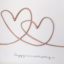 Load image into Gallery viewer, 'Happy Anniversary' Hearts , Box Frame Personalised Art (Rose Gold) www.withcerys.co.uk Unique 3D Wall Art Gifts