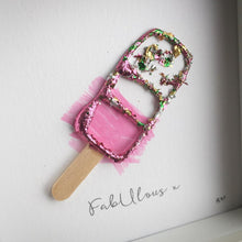 Load image into Gallery viewer, 'FabUlous' Fab Ice Lolly, Box Frame Personalised Art www.withcerys.co.uk Unique 3D Wall Art Gifts