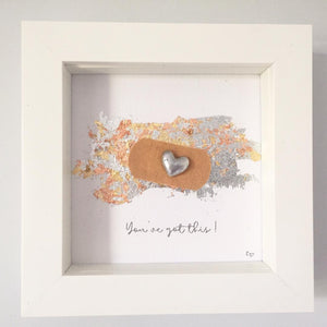 'You've got this' Positive Plaster, Box Frame Personalised Art (Silver) www.withcerys.co.uk Unique 3D Gifts Of Art