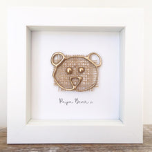 Load image into Gallery viewer, 'Papa Bear' 3D Box Frame Personalised Print (Gold)