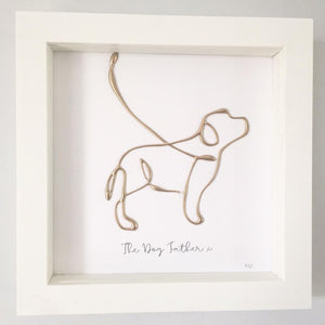 'The Dog Father' Dog Portrait, 3D Box Frame Personalised Art (Gold)  www.withcerys.co.uk Unique Wall Art Gifts