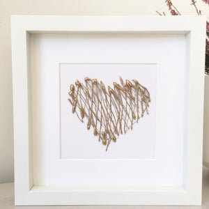 Healing Heart, 3D Box Frame Personalised Print (Gold) www.withcerys.co.uk