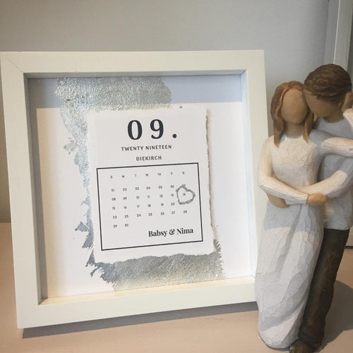 Wedding Day Calendar (Box Frame)