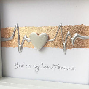 You're my heart hero x. Silver on Rose Gold. www.withcerys.co.uk