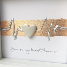 Load image into Gallery viewer, You're my heart hero x. Silver on Rose Gold. www.withcerys.co.uk