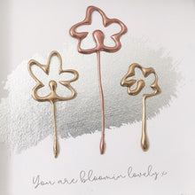 Load image into Gallery viewer, 'You are bloomin lovely' Flowers, 3D Box Frame Personalised Art (Gold & Rose Gold) www.withcerys.co.uk
