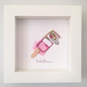 'FabUlous' Fab Ice Lolly, Box Frame Personalised Art  www.withcerys.co.uk Unique 3D Wall Art Gifts