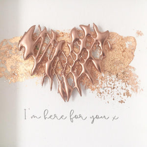'I'm here for you' Healing Heart, 3D Box Frame Personalised Print (Rose Gold) www.withcerys.co.uk