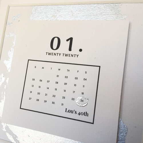 Special Day Calendar Box Frame Personalised Word Art (Silver) www.withcerys.co.uk Unique Wall Art Gifts