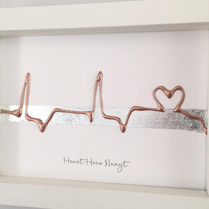 Personalised ECG Wave with Line Heart