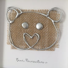 Load image into Gallery viewer, 'Bear Necessities' 3D Box Frame Personalised Print (Silver) www.withcerys.co.uk Personalised Wall Art Gifts