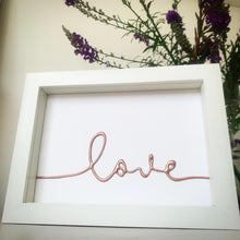 Load image into Gallery viewer, Love Rose Gold Small Framed Art withcerys