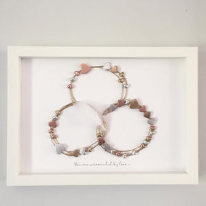 Family Circle / Heart Wall Art Gift. www.withcerys.co.uk