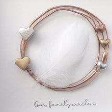 Load image into Gallery viewer, Family Rose Gold Circle / Heart Wall Art Gift. www.withcerys.co.uk