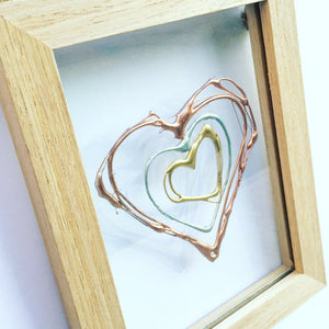 Personalised Family Floating Hearts. www.withcerys.co.uk