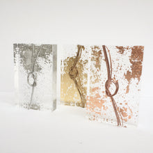 Load image into Gallery viewer, 'True loves knot' Small Acrylic Keepsake (Gold, Rose Gold, Silver) www.withcerys.co.uk