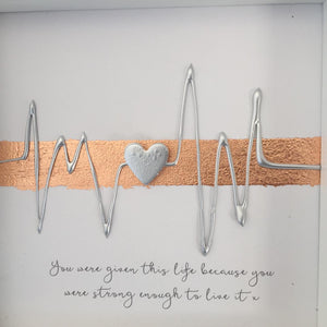 You were given this life because you were strong enough to live it x. Silver on Rose Gold. www.withcerys.co.uk
