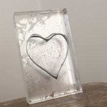 Load image into Gallery viewer, 'My Heart' Small Acrylic Keepsake (Silver) www.withcerys.co.uk Unique 3D Gifts Of Art