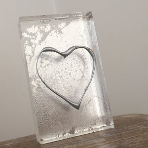 'My Heart' Small Acrylic Keepsake (Silver) www.withcerys.co.uk Unique 3D Gifts Of Art