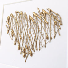 Load image into Gallery viewer, Healing Heart, 3D Box Frame Personalised Print (Gold) www.withcerys.co.uk