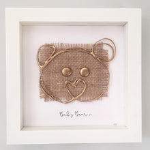 Load image into Gallery viewer, 'Baby Bear' 3D Box Frame Personalised Print (Gold) www.withcerys.co.uk Personalised Wall Art Gifts