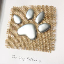 Load image into Gallery viewer, 'The Dog Father' Paws, Box Frame Personalised Art (Silver) www.withcerys.co.uk Unique 3D Gifts Of Art