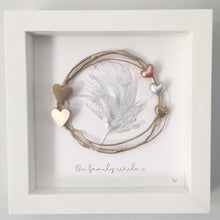 Load image into Gallery viewer, Family Gold Circle / Heart Wall Art Gift. www.withcerys.co.uk