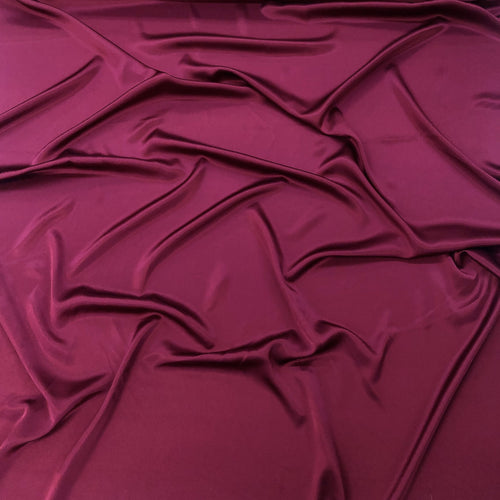 Burgundy silk charmeuse